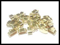 ACO0001 Capuchón terminal ovalado metalico dorado, 1.2 cm x 0.5 cm, precio x gramo $1.20 pesos, precio medio mayoreo (100 gramos)$1 peso, precio mayoreo (250 gramos)$.90 centavos, precio VIP(500 gramos) $.80 centavos (.8 gramos x pieza)