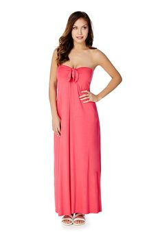 Tie Front Strapless Maxi - JustFab