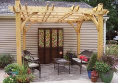 The pergola kits are the easiest and quickest way to build a garden pergola. There are lots of do it yourself pergola kits available to you so that anyone could easily put them together to construct a new structure at their backyard. Diy Pergola, Pergola Canopy, Pergola Swing, Metal Pergola, Pergola With Roof, Outdoor Pergola, Covered Pergola, Pergola Shade, Patio Roof