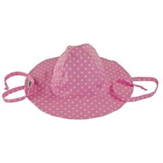 3a00d093da0 Flap Happy Pink Dot Floppy Sun Hat with Ties
