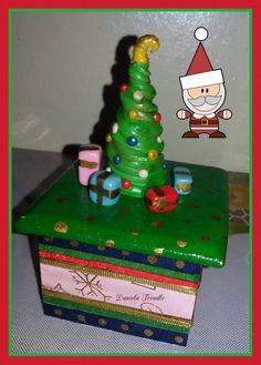 Caja de navidad en porcelana fria