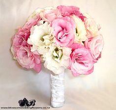 Lisianthus brancos + Lisianthus rosa