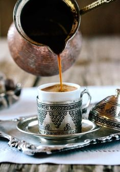 How to make Turkish Coffee (Ingredients and Serving Wares) | Evil Eye Meaning