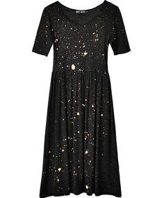 Black Galaxy Baby Doll Dress at Bona Drag
