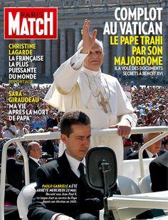 Le pape Benoît XVI en une de l'édition iPad de Match PM 3289. Le numéro iPad est disponible ici http://itunes.apple.com/fr/app/paris-match/id364271975?mt=8