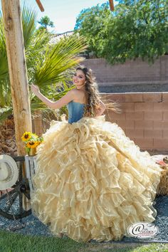 Gorgeous Quinceañera Cowgirl Style Dress - Styled Session hosted by BQ Magazine & gown by Mauriel Boutique.  #AnaStudiosPhotography, #quince #photography, #sweetfifteen #photos, #quincephotography #ideas, #quincedress #ideas, #sweetfifteen #dress, #Quinceañera #cowgirldress, #quinceplanning