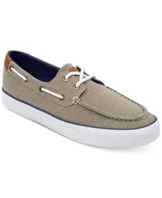8d696282b09fdb Tommy Hilfiger Men s Petes Boat Shoes - Gray 7