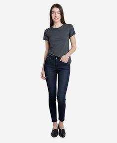 Turkish Denim Skinny Jeans - Blue Dark Wash