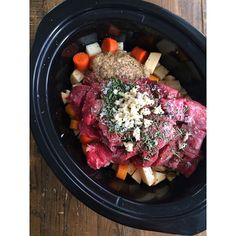 """In 6 hours this is going to be a slow cooker full of simple beef stew. I chopped up some root veggies, added some stew beef, garlic, fresh rosemary, mustard and a couple cups of beef broth. Throw this baby on low for about 6 hours and it's done. Meanwhile I'll get back to putting the finishing touches on Harder to Kill Radio episode 2 which I'm pushing out tomorrow! If you haven't listened to episode 1, the link is in my profile "" Photo taken by @stupideasypaleo on Instagram, pinned via the…"