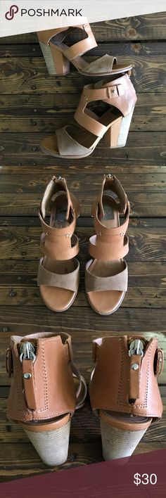 Dolce Vita Leather Block heels Dolce Vita genuine leather and suede block heels. Size 6.5. In good condition but pics show the wear. Dolce Vita Shoes Heels