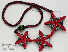 Star Light Star Bright Necklace Kit in Red, White, Black and Green