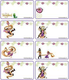 free printable kit rapunzel - Buscar con Google