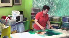 Free Art Lessons Rae Woolnough - she makes it look so easy! Fabric Painting, Fabric Art, Shibori, Landscape Art Quilts, Felt Pictures, Needle Felting Tutorials, Textiles, Art Textile, Learn Art
