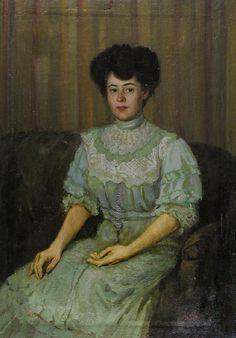 Serov Portrait of P Tchaokovskaia - 1890s in Western fashion - Wikipedia, the free encyclopedia
