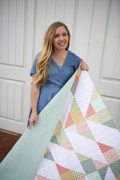 Cirrus Quilt Pattern by Homemade Emily Jane | Fabric: Gingham Gardens by My Mind's Eye for Riley Blake Designs