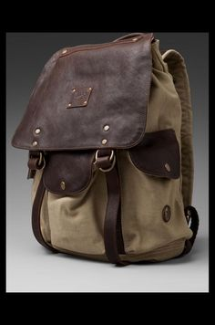 WILL Leather Goods Lennon Rucksack en Khaki/T.Moro