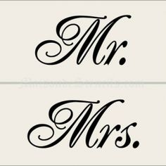 mr & mrs stencil | Home > Wedding > Mr. and Mrs. Stencils