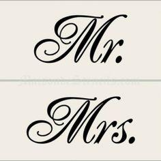 mr & mrs stencil | Home > Wedding > Mr. and Mrs. Stencils