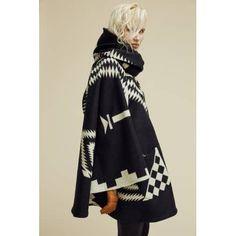 Black Los Ojos Mid-Length Cloak - LINDSEY THORNBURG
