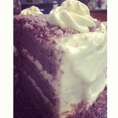 Ube cake - the famous filipino purple yam cake Filipino Food, Filipino Recipes, Purple Yam, Tough Mudder, Ube, Yams, Origins, Philippines, Ice Cream