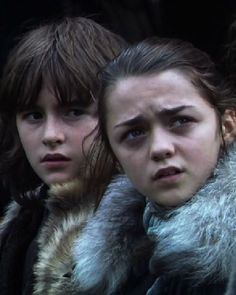 Bran & Arya in season 1