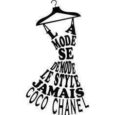 Sticker La mode se démode le style jamais - Coco Chanel – Stickers Citations Français - Ambiance-sticker
