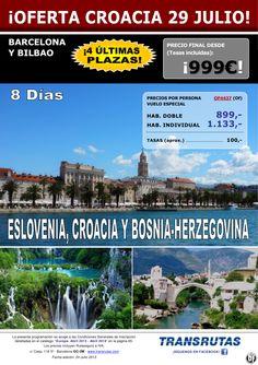 ESLOVENIA, Croacia y Bosnia ¡¡Superoferta 4 Últimas Plazas: 29 julio!! sal. Barcelona y Bilbao - http://zocotours.com/eslovenia-croacia-y-bosnia-superoferta-4-ultimas-plazas-29-julio-sal-barcelona-y-bilbao/
