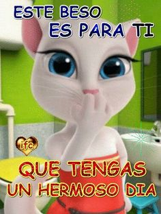 Cute Love Stories, Love Story, You And I, I Love You, Animated Emojis, Spanish Quotes, Betty Boop, Friendship Quotes, Good Morning