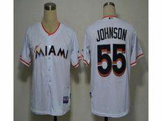 aeda0fd9da6 MLB marlins  55 Josh Johnson White 2012 Home Stitched Jersey