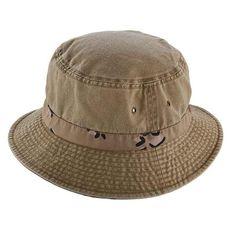 Camo Underbrim Cottonl Bucket Hat by DPC Global