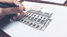 Inktober Dag 11🍁Stora Teatern Göteborg #sketch #sketching #göteborg #gothenburg #artist #illustrate #illustrator #art #artwork #print #doodle #doodling #architecture #sweden #målning #rita #teckning #teckna #måla #illustrate #inktober #inktober2016 #usk #urbanart #storan #storateatern