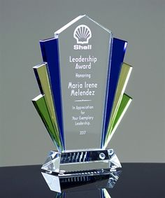 Picture of Art Deco Crystal Award