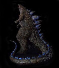 1/100th Scale Godzilla 2014 Statue full body by FritoFrito.deviantart.com on @DeviantArt