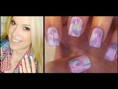 How To: Watercolor Nails ♥ NO water needed! by MissJenFabulous Pearl Nail Art, Pearl Nails, Pink Nail Art, Cool Nail Art, Diy Nails, Cute Nails, Manicure, Pretty Nails, Cool Easy Nail Designs
