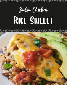 Salsa Chicken Rice Skillet Cake Recipes For Beginners, Cake Recipes From Scratch, Cake Mix Recipes, Dog Recipes, Easy Recipes, Chicken Recipes, Easy Meals, Chocolate Cake Recipe Easy, Chocolate Chip Recipes