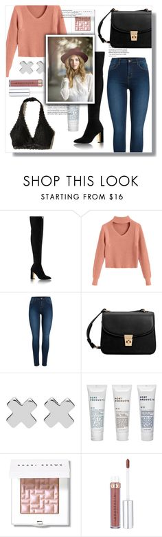 """Long Boots!"" by jane-cupacake ❤ liked on Polyvore featuring Pieces, MANGO, Witchery, Port Products, Bobbi Brown Cosmetics and Hollister Co."