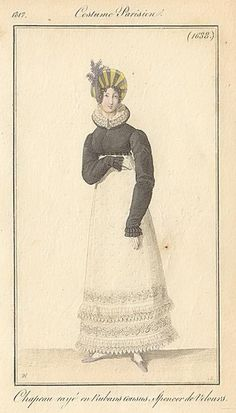 Black spencer, 1817 costume parisien