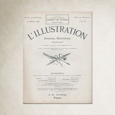 Anewall features an antique poster from the popular French subscription journal, L'illustration.