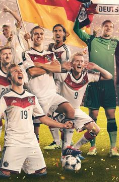 Germany National Soccer Team! Winners of World Cup!