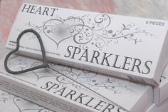 Heat Sparklers for Wedding Favors or for guests to use for Bride-Groom Exit...Very Cute Idea