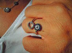 Evil eye ring evil eye sterling silver ring Filled by ebrukjewelry