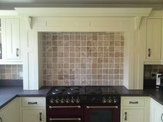 Ivory Painted Kitchen Mantle -   Real Kitchens