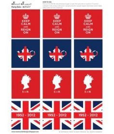 Queen Elizabeth's Jubilee Printable Set. I might have to have a jubilee party this weekend :)