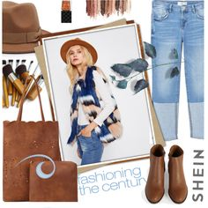 Boho- SHEIN by lacas on Polyvore featuring мода, MANGO, tarte, Gucci, boho, hats and shein