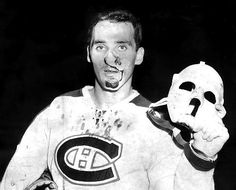 November 1959 After a slapshot cut his face, Jacques Plante of the Montreal Canadiens had a cut stitched and returned to the ice wearing a mask. He became the first goalie to wear a mask regularly.