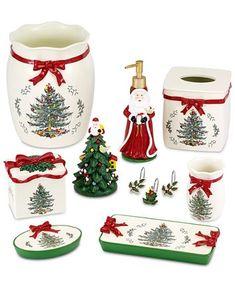 Christmas Tree Images, Spode Christmas Tree, Christmas Cookies, Christmas Time, Christmas Gifts, Christmas Decorations, Christmas Things, Christmas Bathroom Decor, Bathroom Decor Sets