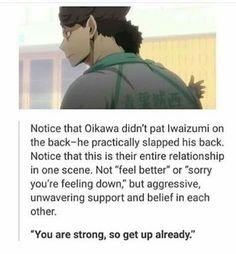 Oikawa and Iwaizumi Iwaizumi Hajime, Iwaoi, Kuroo, Kagehina, Haikyuu Funny, Haikyuu 3, Haikyuu Ships, Haikyuu Volleyball, Volleyball Anime
