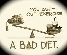 """And not a """"diet"""" but a diet as in how you eat. Do you eat crap all the time? Or do you eat your fruits and veggies?"""