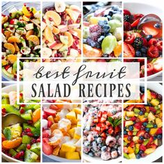 This post may contain affiliate links. See myFull Disclosurefor further details. BEST FRUIT SALAD RECIPES THAT WILL FILL YOUR BOWL. I love fruit and I love salads, so combining the two just seem logical to me. Fruit salad is one of those things you can literally just throw together and it will taste good. Bananas, …
