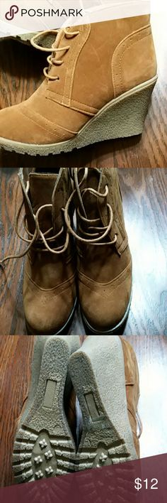 Rue21shoes Rue21 Brown bootie like shoes.  They are brand new,  no tags.  Never worn.  Size L  8-9 Rue21 Shoes Ankle Boots & Booties